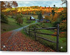 Sleepy Hollow Farm- Pomfret Vt Acrylic Print