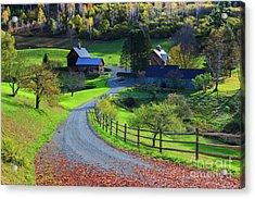 Sleepy Hollow Farm, Woodstock, Vermont Acrylic Print by Henk Meijer Photography