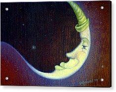 Sleepy Moon Acrylic Print