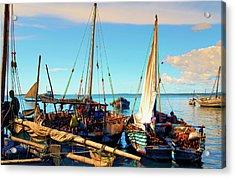 Sleepy Sail Boats Zanzibar Acrylic Print