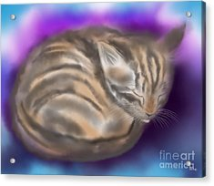 Acrylic Print featuring the painting Sleepy Sam by Nick Gustafson