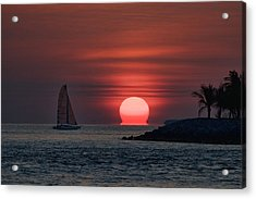 Sleepy Sun Acrylic Print by Joetta West