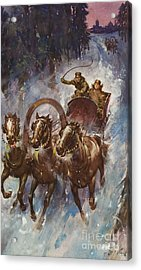 Sleigh Ride Acrylic Print by James Edwin McConnell