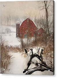 Sleigh Ride Acrylic Print by Lori Deiter