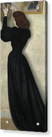 Slender Woman With Vase Acrylic Print by Jozsef Rippl Ronai