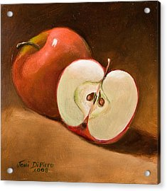 Sliced Apple Acrylic Print by Joni Dipirro
