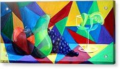 Sliced Fruit Acrylic Print by Maryn Crawford