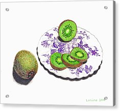 Sliced Kiwi Acrylic Print by Loraine LeBlanc