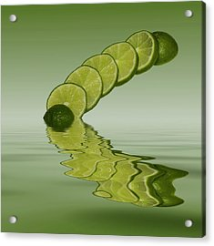 Acrylic Print featuring the photograph Slices Lime Citrus Fruit by David French