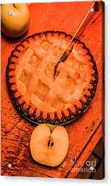 Slicing Apple Pie Acrylic Print by Jorgo Photography - Wall Art Gallery