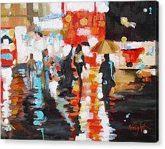Slick Acrylic Print by Molly Wright