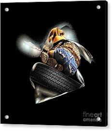 Slide Off Tire Acrylic Print by Viktor Savchenko