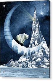Sliding On The Moon Acrylic Print by Mihaela Pater