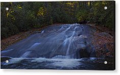 Acrylic Print featuring the photograph Sliding Rock Falls by Ellen Heaverlo