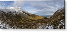 Slieve Commedagh And Slieve Donard Panorama From The Assent  Acrylic Print