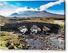Acrylic Print featuring the photograph Skye Cuillin From Sligachan by Gary Eason