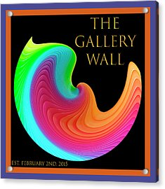 Acrylic Print featuring the photograph Slinky Dove Of Peace-the Gallery Wall Logo by Wendy Wilton
