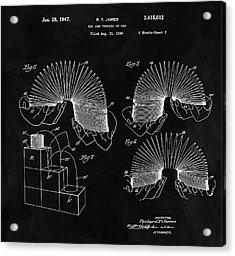 Slinky Patent Design  Acrylic Print by Dan Sproul