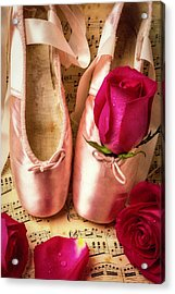 Slippers And Roses Acrylic Print