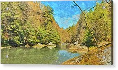 Acrylic Print featuring the digital art Slippery Rock Creek by Digital Photographic Arts