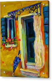 Acrylic Print featuring the painting Sliver Of Sunshine by Chris Brandley