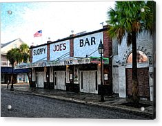 Sloppy Joe's Bar Key West Acrylic Print by Bill Cannon