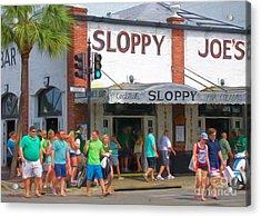 Sloppy Joe's Acrylic Print by Judy Kay