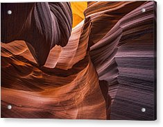 Slot Canyon Colors Acrylic Print by Dave Dilli