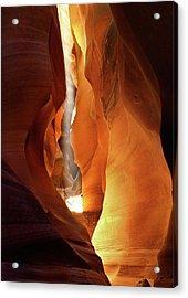 Slot Canyon Light Acrylic Print by Leland D Howard