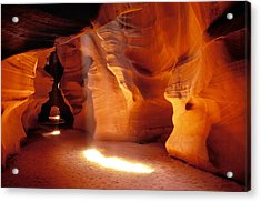 Slot Canyon Warm Light Acrylic Print by Garry Gay