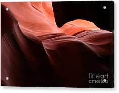 Slot Waves Acrylic Print by Carl Jackson