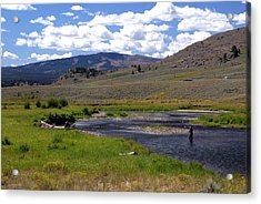 Slough Creek Angler Acrylic Print