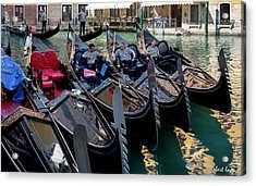 Slow Day, Venice Acrylic Print by Robert Lacy