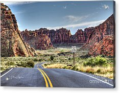Slow Down In Snow Canyon Acrylic Print