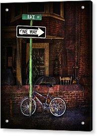 Slow Down On The Race Street Acrylic Print by Evelina Kremsdorf