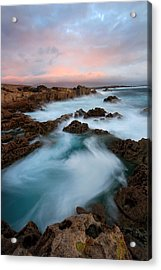 Slow Exposure Kerry Sunset Ireland Acrylic Print by Pierre Leclerc Photography