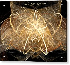 Acrylic Print featuring the digital art Slow Motion Sparkler by R Thomas Brass