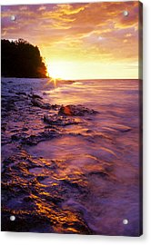 Acrylic Print featuring the photograph Slow Ocean Sunset by T Brian Jones