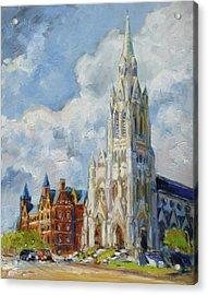 Slu - Grand And Lindell, Saint Louis Acrylic Print