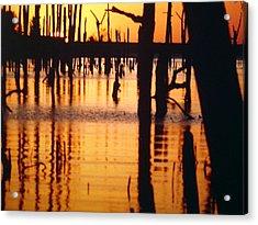 Slue Sunset Acrylic Print by Myrna Salaun