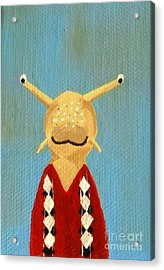 Slug's School Picture Acrylic Print by Kerri Ertman
