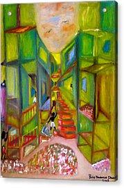 Slum Acrylic Print by Philip Okoro