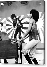 Sly And The Family Stone Performing Acrylic Print by Everett