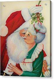 Sly Santa Acrylic Print by Joni McPherson