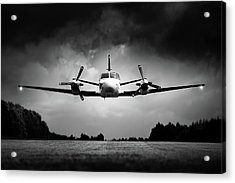 Small Airplane Low Flyby Acrylic Print