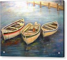 Small Boats Acrylic Print