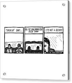 Small Brown Bike Comic Acrylic Print by Karl Addison