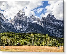 Small Cabin Below Big Mountain Acrylic Print