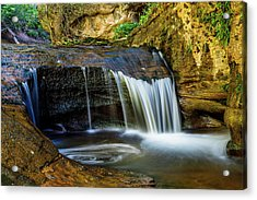 Small Cascade  Acrylic Print by James Marvin Phelps