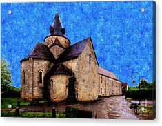 Small Church 1 Acrylic Print by Jean Bernard Roussilhe